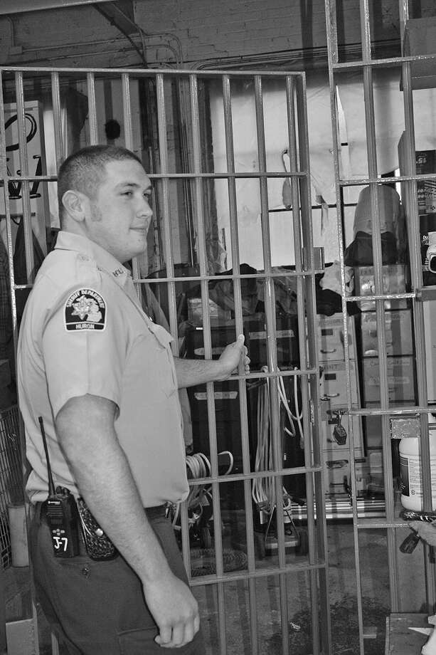 Josh Loss has worked in the Huron County Jail since 2012, when he began as a part-time officer. Now, he's a full-time corrections officer at the jail. Photo: Rich Harp/For The Tribune