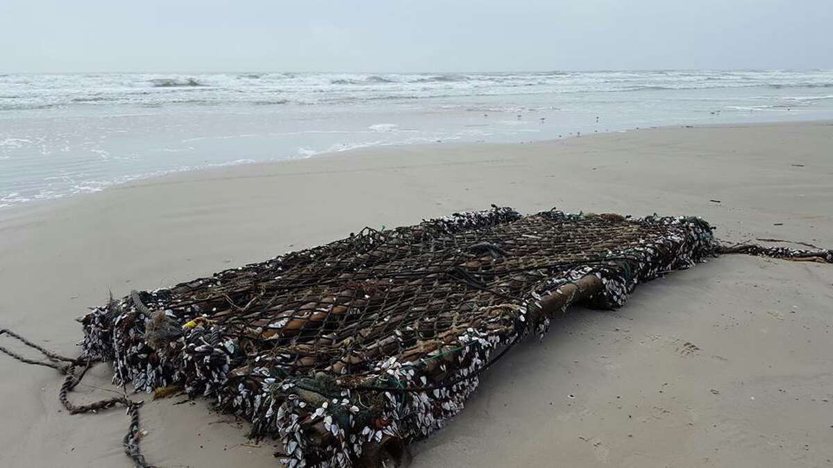 The Padre Island National Seashore shared this photo of a bamboo raft that washed ashore due to recent thunderstorms.