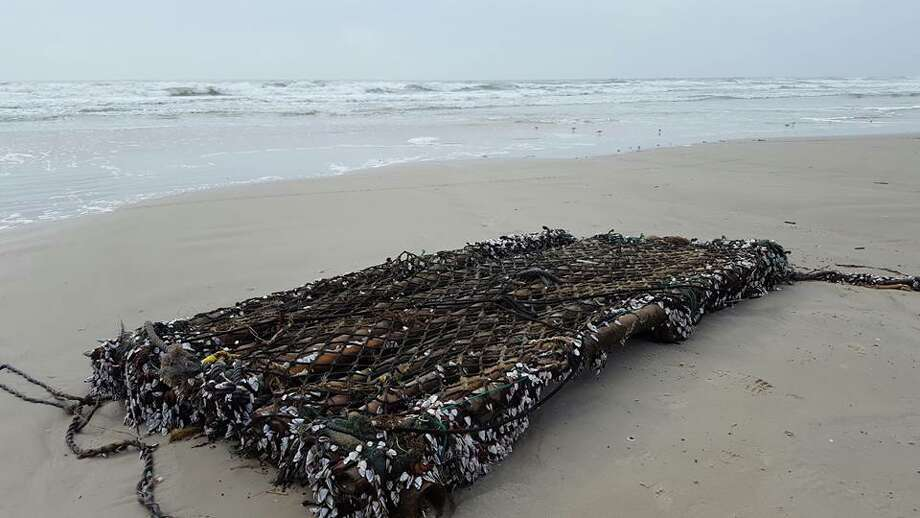 The Padre Island National Seashore shared this photo of a bamboo raft that washed ashore due to recent thunderstorms. Photo: Courtesy,  Padre Island National Seashore,  NPS