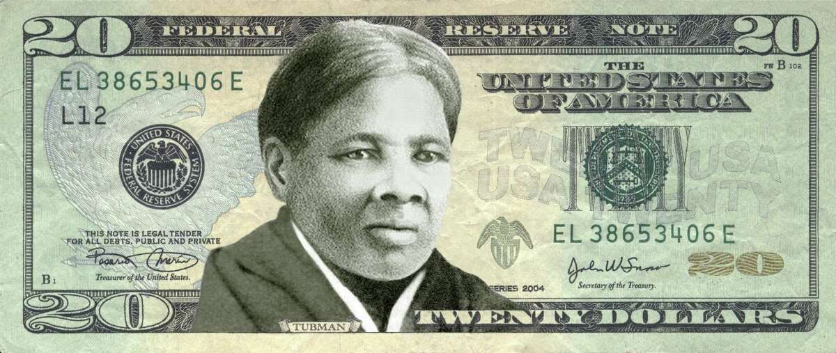 A mockup by Women On 20s shows abolitionist Harriet Tubman on the $20 bill.