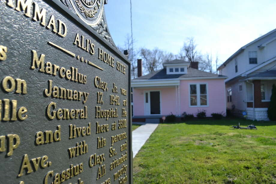 In this March 18, 2016 photo, the childhood home of Muhammad Ali is seen in Louisville, Ky. The home has been purchased and restored over the last nine months and is being transformed into a museum. (AP Photo/Dylan Lovan) Photo: Dylan Lovan