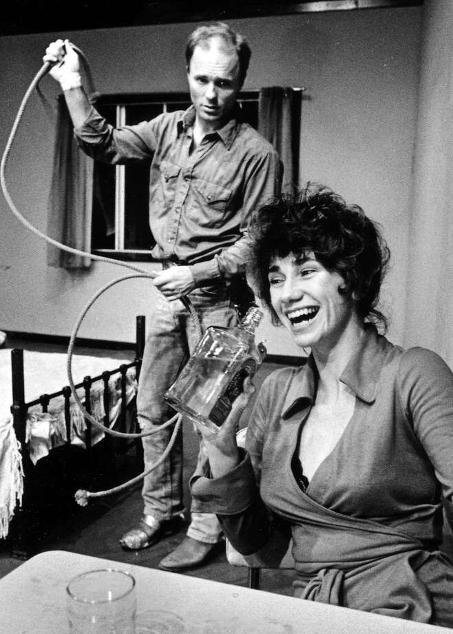 "Ed Harris and Kathy Bates in ""Fool for Love"" at the Magic in 1983. Photo: Handout, SFC"