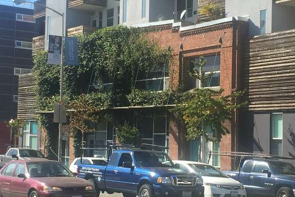 The affordable housing complex at Folsom and Dore streets, designed by David Baker Architects.