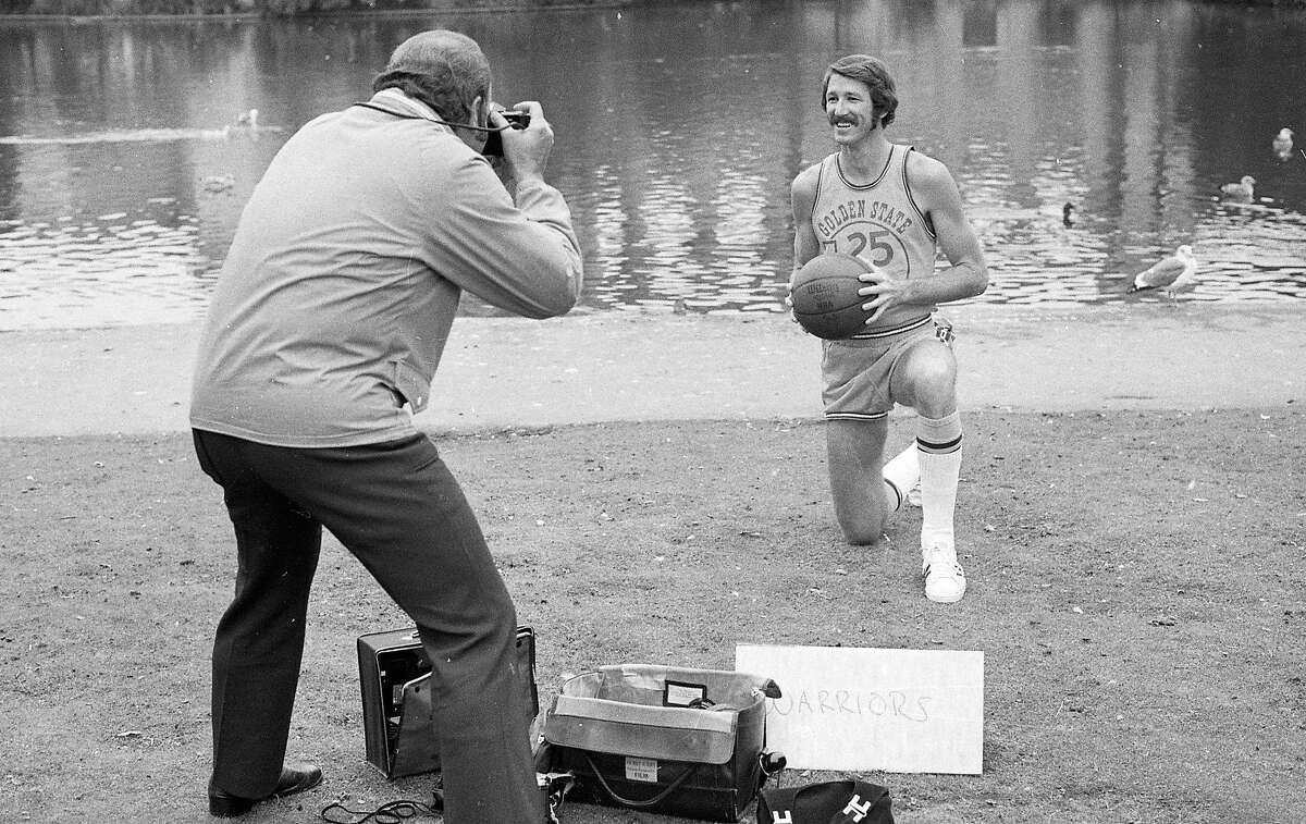 Sept. 11, 1973: Warriors guard Jim Barnett poses for media and team photographers during team picture day in 1973.