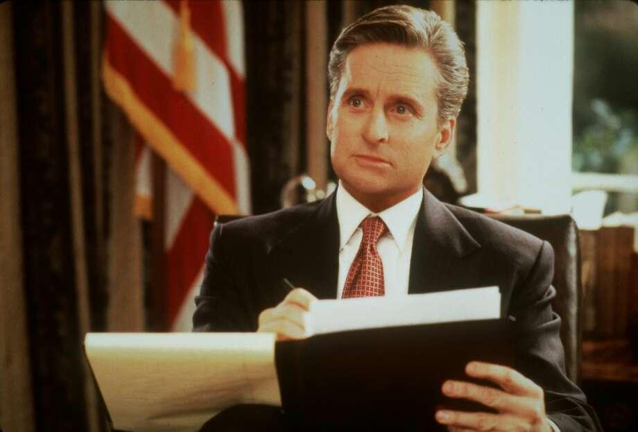 "Michael Douglas stars as widowed president Andrew Shepherd in ""The American President."" Photo: Francois Duhamel, Castle Rock Entertainment C1995"