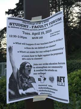 Faculty Flyer drums up support for one-day labor strike at City College of SF