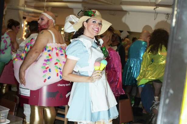 Fiesta Cornyation, the wacky, irreverent annual show, opened with a sold out performance at the Charline McCombs Empire Theater on Tuesday, April 19, 2016.