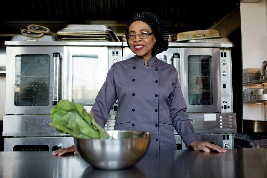 Charma Dompreh, who has started selling her Charma's Green Chips in several Whole Foods around Michigan, says she can't ramp up production enough to supply Kroger, too, because the collard greens she uses have to be dehydrated for 17 hours. Photo: LAURA MCDERMOTT, STR / NYTNS