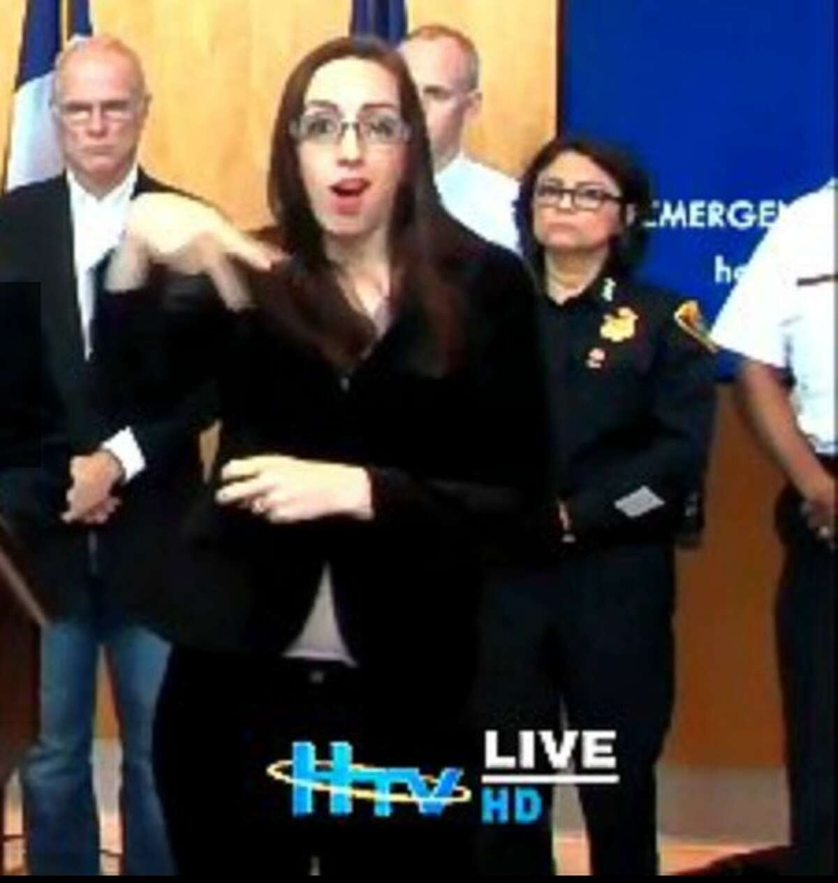 Ashley Henderson is often used by the mayor's office for her sign language interpretation skills.