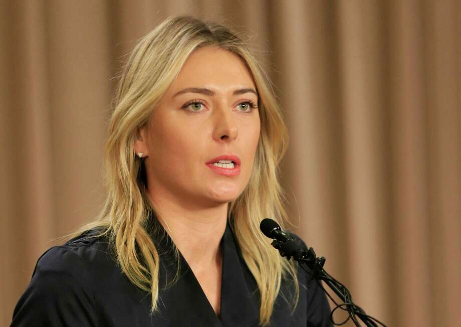 "FILE - In this March 7, 2016, file photo, Maria Sharapova speaks about her failed drug test during a news conference in Los Angeles.   International Tennis Federation president David Haggerty Wednesday April 20, 2016 said a disciplinary hearing is scheduled in Maria Sharapova's doping case, with a ruling possible before Wimbledon. Haggerty told reporters the independent Tennis Integrity Unit typically takes ""two to three months"" to process a case. That would suggest a verdict in June.(AP Photo/Damian Dovarganes, File) ORG XMIT: LON110 Photo: Damian Dovarganes / AP"