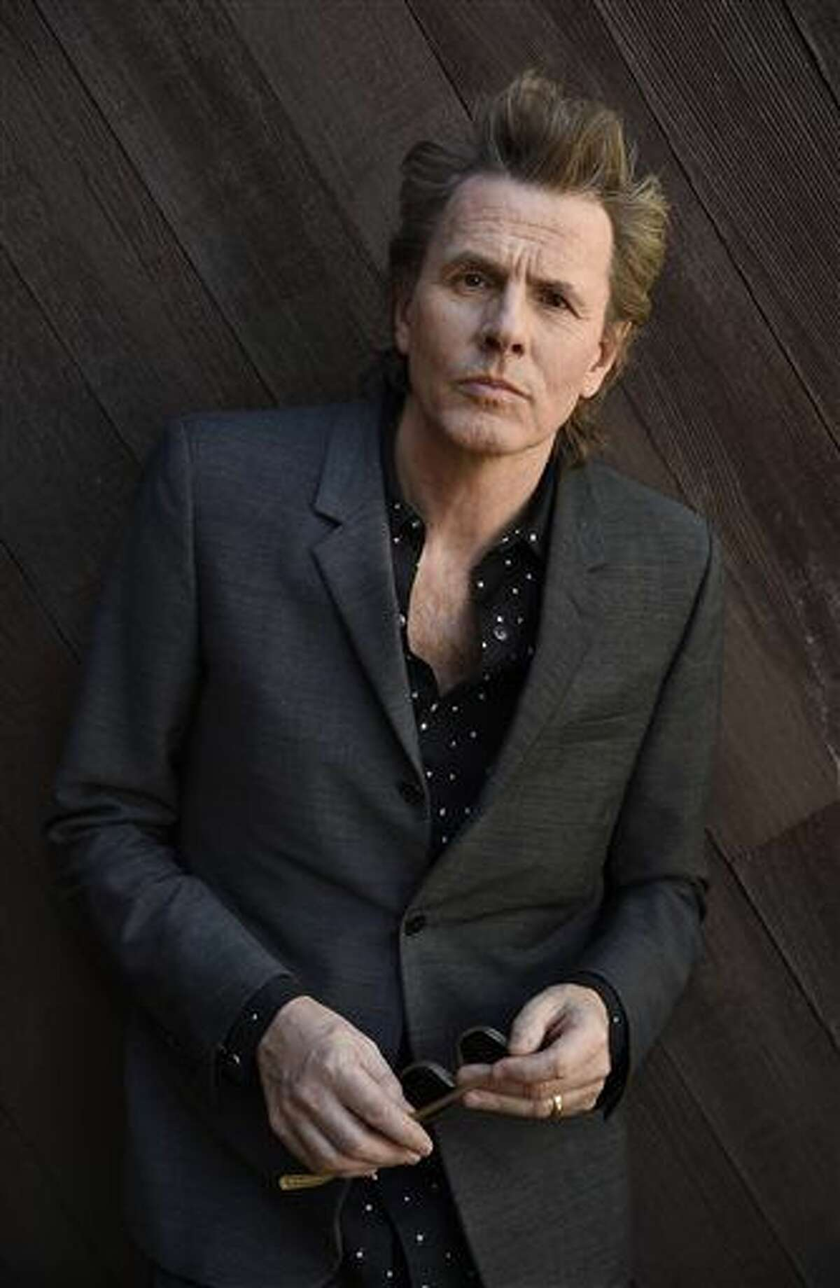 """In this Feb. 9, 2016 photo, John Taylor from the band Duran Duran poses for a portrait at Warner Bros. Records in Burbank, Calif., to promote the band's upcoming """"Paper Gods Tour,"""" kicking off March 25. (Photo by Chris Pizzello/Invision/AP)"""