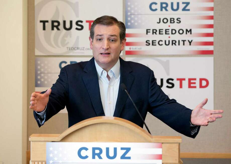 Ted Cruz, speaking Wednesday in Florida, may have a better chance at a contested convention if he can  keep Trump at least 100 delegates short of a majority. Photo: Wilfredo Lee, STF / AP