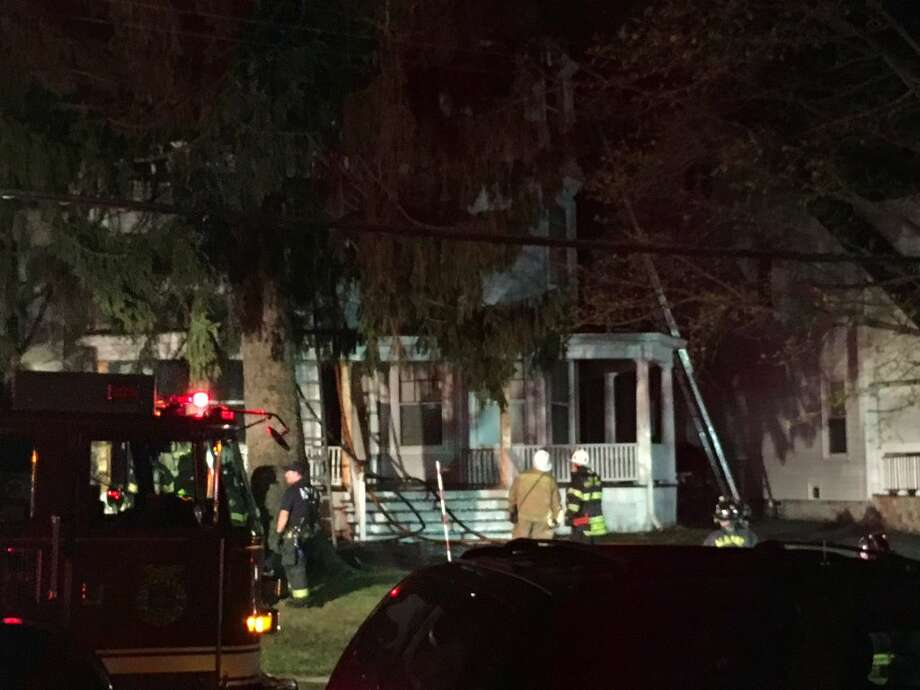 A South Pine Street man was severely burned in a fire Wednesday night. (Lindsay Ellis / Times Union)