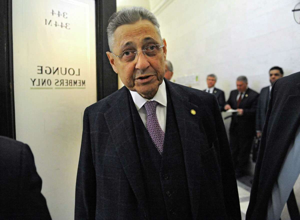 Speaker Sheldon Silver is seen coming out of the Assembly lounge at the Capitol on Monday, Feb. 2, 2015 in Albany, N.Y. (Lori Van Buren / Times Union)
