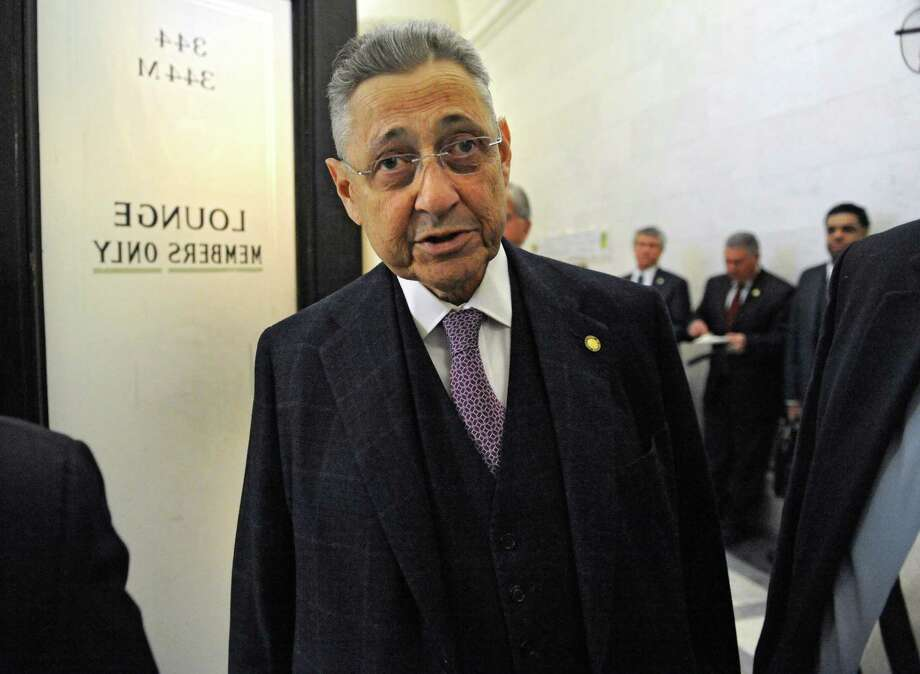Speaker Sheldon Silver is seen coming out of the Assembly lounge at the Capitol on Monday, Feb. 2, 2015 in Albany, N.Y.  (Lori Van Buren / Times Union) Photo: Lori Van Buren / 00030429B