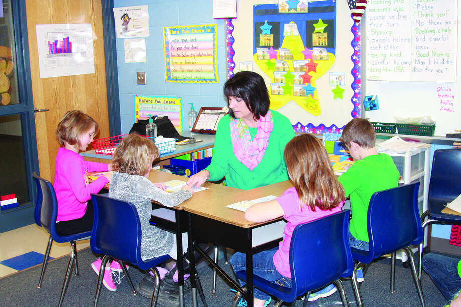 Cheri Bohn instructs students in her second grade classroom.