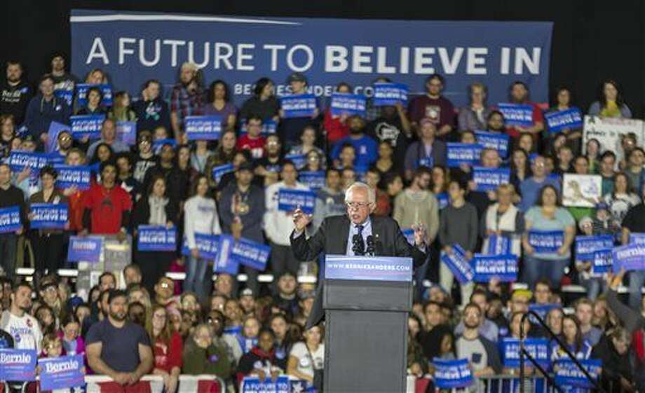 Democratic presidential candidate Sen. Bernie Sanders speaks at a campaign stop Saturday, March 26, 2016, in Madison, Wis. (AP Photo/Andy Manis) Photo: Andy Manis