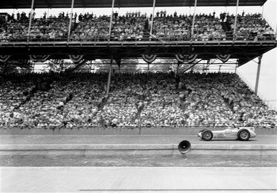 FILE - In this May 30, 1957, file photo, Sam Hanks wins the 41st Indianapolis 500 auto race at Indianapolis Motor Speedway in Indianapolis, Ind. (AP Photo/File) Photo: Anonymous