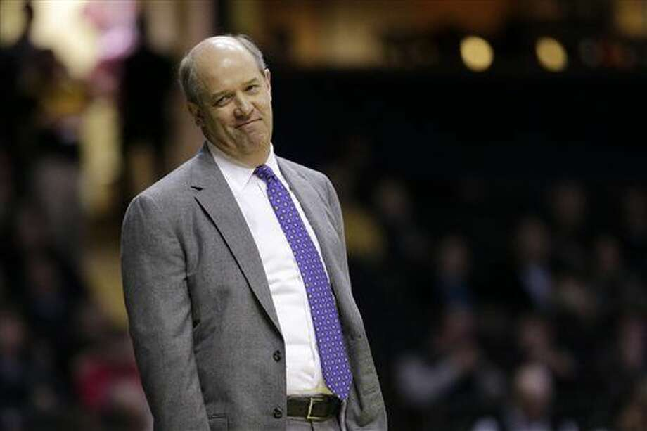FILE - In this Jan. 26, 2016, file photo, Vanderbilt head coach Kevin Stallings watches from the sideline in the first half of an NCAA college basketball game against Florida in Nashville, Tenn. Pittsburgh hired Stallings away from Vanderbilt on Sunday, March 27, 2016, tasking him with rejuvenating a program that had stagnated during the final years under Jamie Dixon. (AP Photo/Mark Humphrey, File) Photo: Mark Humphrey