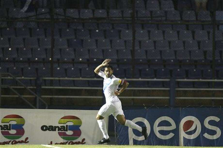 Guatemala's Carlos Ruiz celebrates after scoring against United States during a 2018 Russia World Cup qualifying soccer match at Mateo Flores Stadium in Guatemala City, Friday, March 25, 2016. (AP Photo/ Moises Castillo) Photo: Moises Castillo