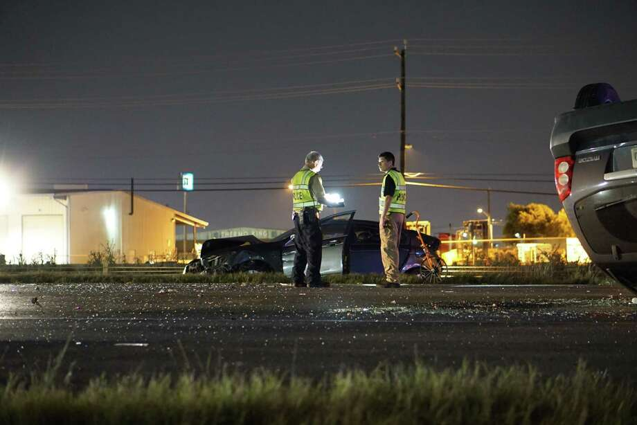 An accident involving two vehicles near I-10 and Ackerman Road claimed the life of a woman Wednesday April 20, 2016. Photo: Jacob Beltran