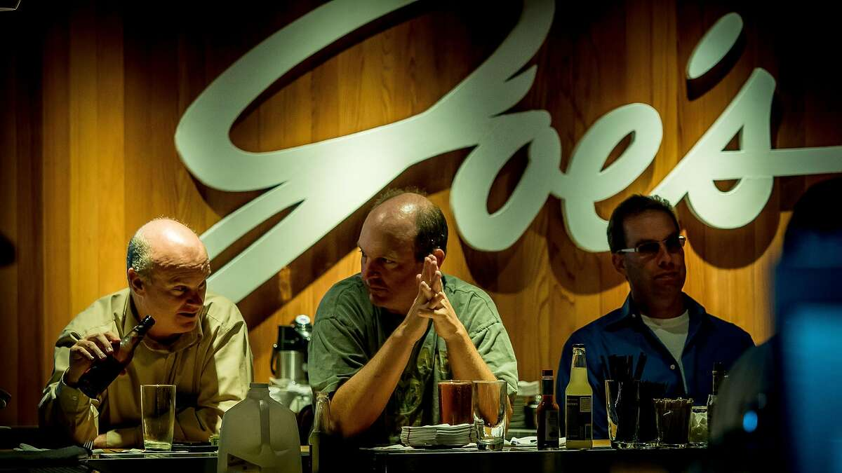 People have dinner in the bar at Original Joes of Westlake in Daly City, Calif., on April 20th, 2016.