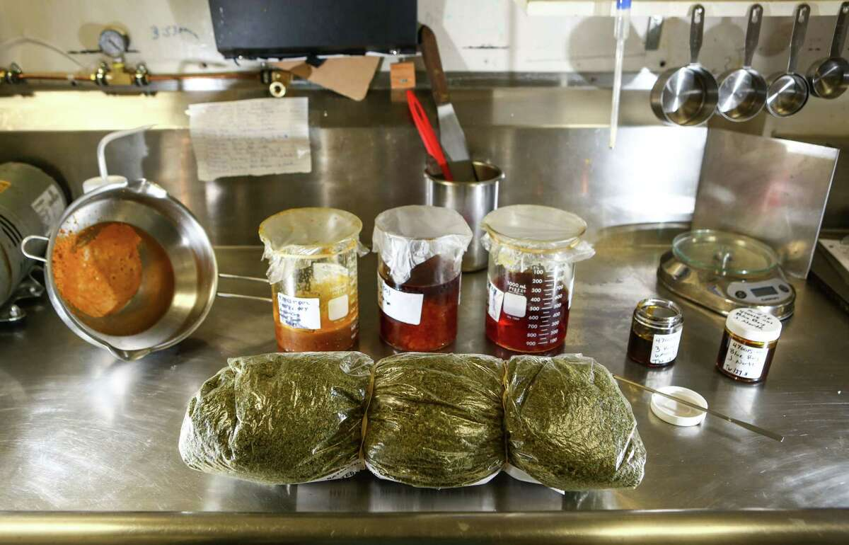 Various types of concentrated marijuana oil are used for sprays, droppers, lotions and pills.