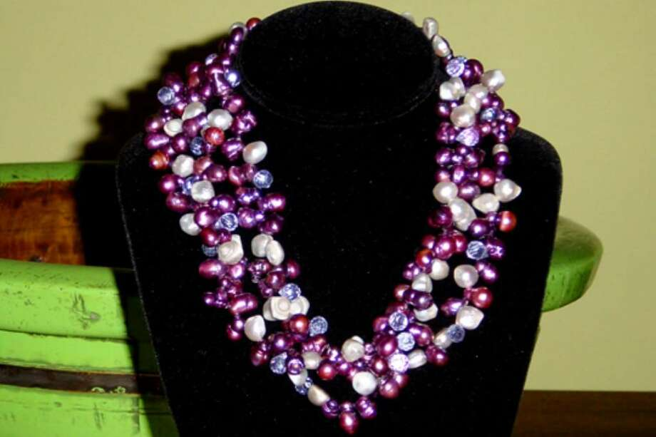 One of Rosen's necklaces from her One-Of-A-Kind Collection, made with freshwater pearls Photo: Contributed Photo / Darien News