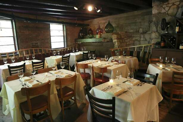 The dining area Bella on the River gives guests a feel of a historic European restaurant.