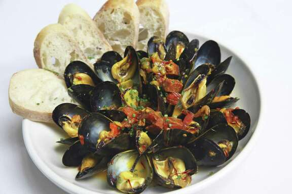 Bella on the River serves mussels.