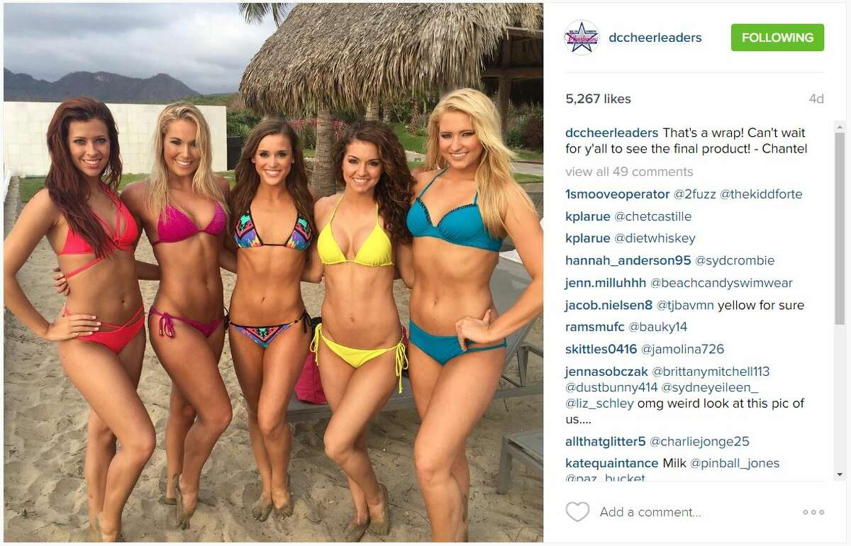 The Dallas Cowboys Cheerleaders are having some fun in the sun during their annual swimsuit calendar photo shoot in Mexico.