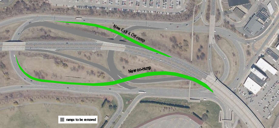 A rendering of the work to be done at Exit 4 of I-890 in Schenectady County beginning April 25, 2016. (NYS Department of Transportation)