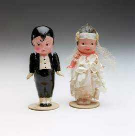 CONTACT FILED:  WEDDINGS antiques column - vintage wedding cake toppers photographed in the Chronicle studio, Monday afternoon, July 30, 2001.  (Smiley N. Pool/Chronicle) 07/30/2001
