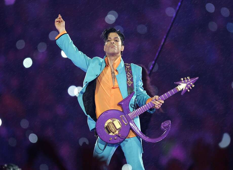 Prince performs during the halftime show at the Super Bowl XLI football game at Dolphin Stadium in Miami in 2007. Photo: CHRIS O'MEARA, Associated Press
