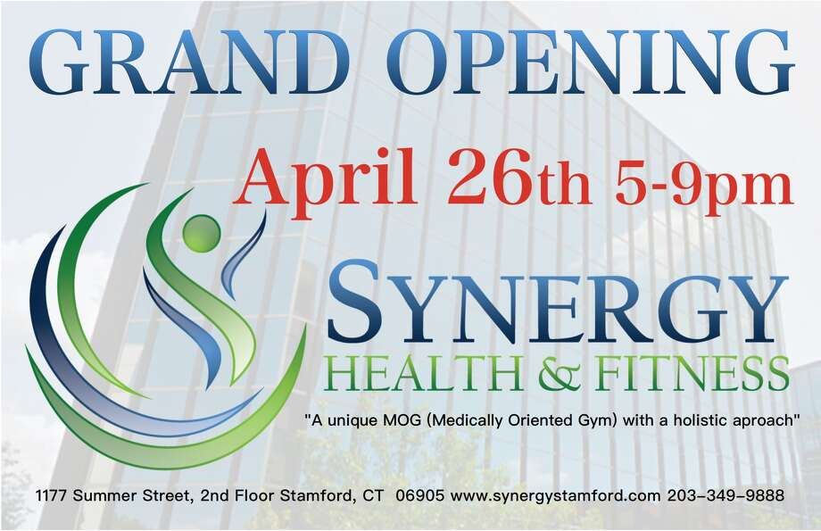 Grand Opening Synergy Health and Fitness in Stamford on April 26th.