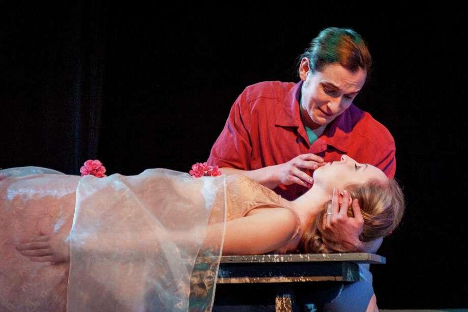 "Ethan Botwick and Kiera Davis star as the title characters in ""Romeo & Juliet"" at the Theatre Institute at Sage. (Photo by Theatre Institute at Sage) Photo: Tamara_Hansen / © Tamara Hansen 2016"