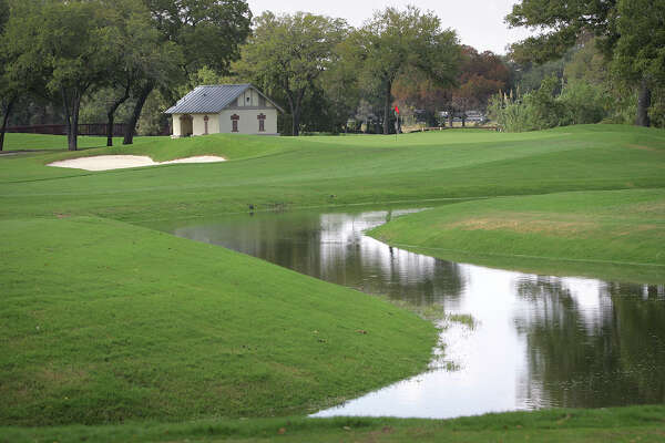 A look at the No. 10 green at Brackenridge Park Golf Course.