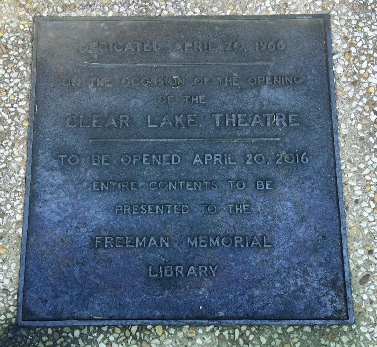 A 50-year-old time capsule buried at a former theater in Clear Lake was unearthed on Wednesday, April 20, 2016. Jim Johnson, branch manager of the Clear Lake City-County Freeman Branch Library, led the charge to exhume the capsule five decades after it was placed with much fanfare on the site, which has changed hands over the years and gone through a handful of changes.