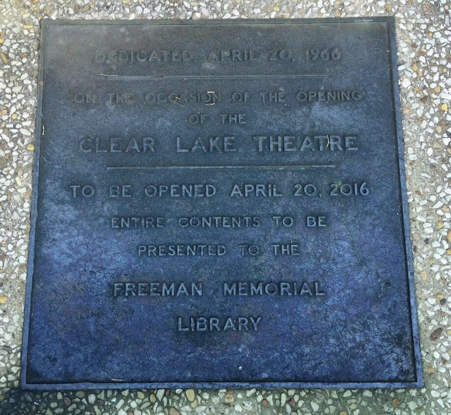 A 50-year-old time capsule buried at a former theater in Clear Lake was unearthed on Wednesday, April 20, 2016. Jim Johnson, branch manager of the Clear Lake City-County Freeman Branch Library, led the charge to exhume the capsule five decades after it was placed with much fanfare on the site, which has changed hands over the years and gone through a handful of changes. Photo: Jim Woodall