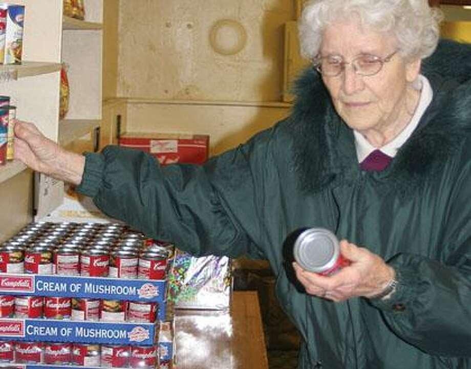 Alyce Kleinfeld is a volunteer with the Pigeon Food Pantry,