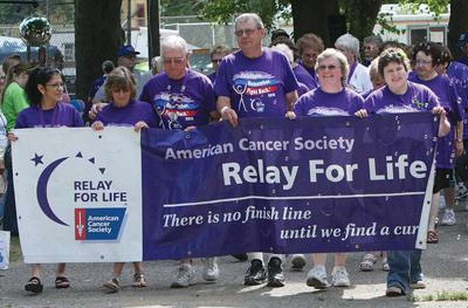 Cancer survivors take part in the Survivor Lap.