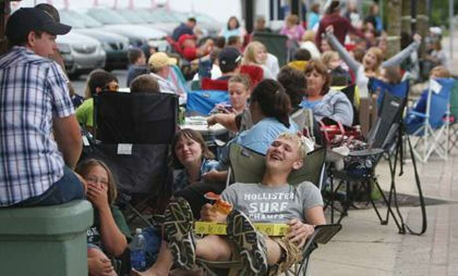 Over 100 Harry Potter fans wait in line at BA Theater.