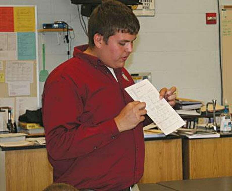 First-year teacher Joe Ankley
