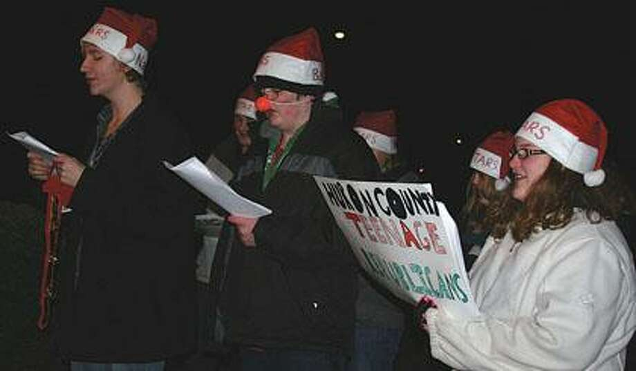 HC Teenage Republicans sing Christmas carols.