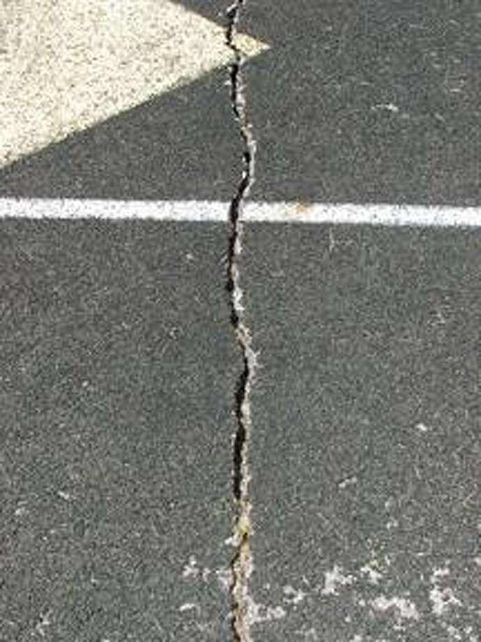 An example of the condition issues at the Marlette High School track.