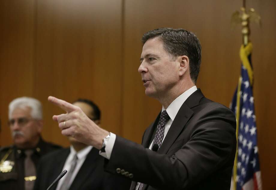 James Comey said the FBI paid more money than he'll earn in his remaining seven years as director. Photo: Carlos Osorio, AP