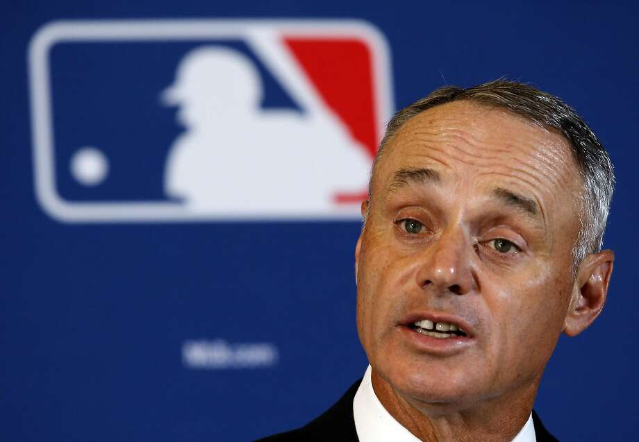 "FILE - In this Feb. 22, 2016, file photo, Major League Baseball Commissioner Rob Manfred answers a question during a news conference in Phoenix. Manfred says this generation of players will make its own unwritten rules on what emotion is acceptable to show on the field. Hall of Famer Goose Gossage, a New York Yankees spring training instructor, criticized Toronto star Jose Bautista last month for his bat flip during last year's playoffs, telling ESPN he was ""a disgrace to the game."" (AP Photo/Morry Gash, File) Photo: Morry Gash, Associated Press"