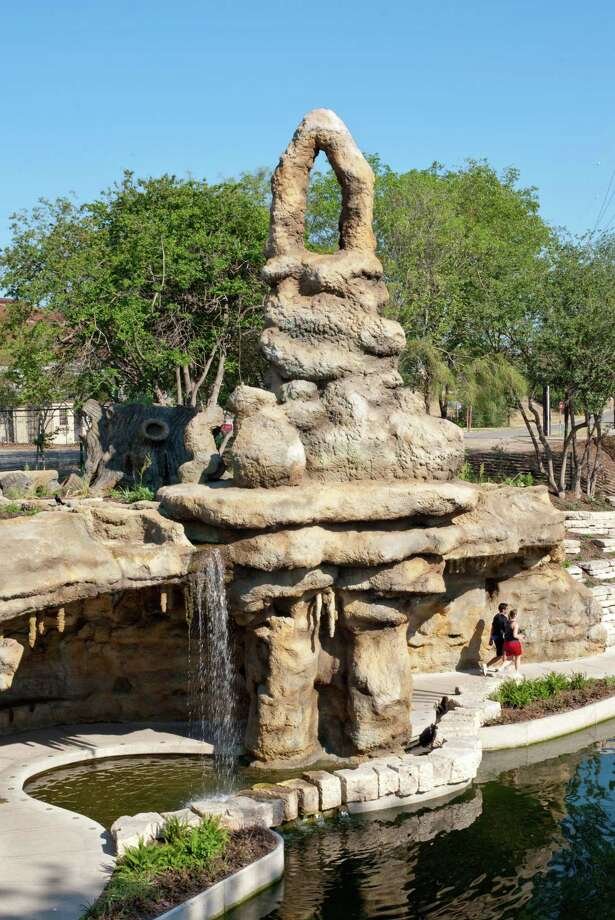 The Grotto, which Carlos Cortez created for the Museum Reach of the River Walk, debuted in 2009. It is one of several public art pieces in the area, and can be found near Camden and Newell streets. Photo: Courtesy Photo /Courtesy Photo