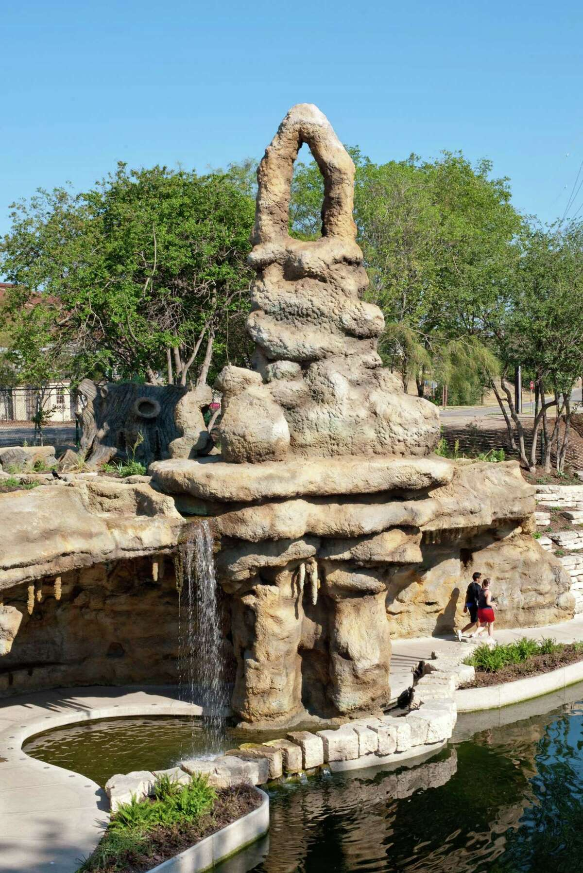 """""""The Grotto"""" by Carlos Cortez is located on San Antonio River Walk Museum Reach near Camden and Newell Streets."""