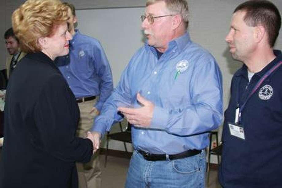 U.S. Sen. Debbie Stabenow, Jim Licht and Tim Sielaff